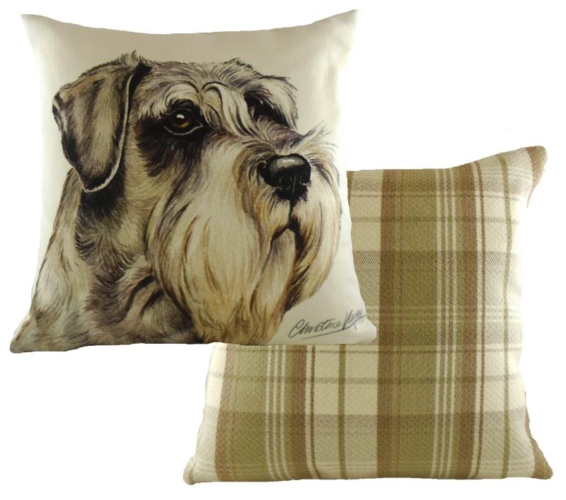 Schnauzer Boston Waggy Dogz Cushion A Bentley Cushions