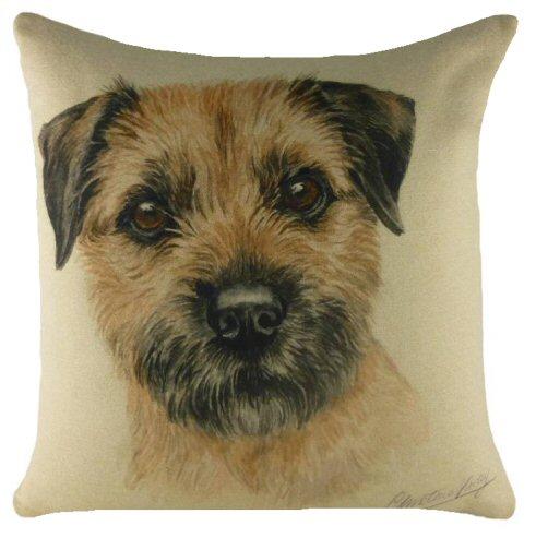Border Terrier Waggy Dogz Cushion A Bentley Cushions