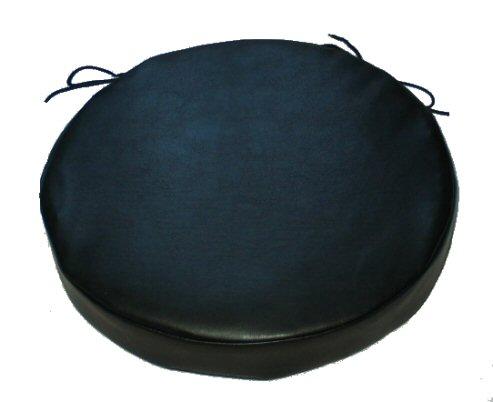 Set Of 2 Premium Thirteen Inch Diameter Round Faux Leather