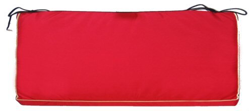 Made To Measure Bench Or Seat Cushion In Red A Bentley
