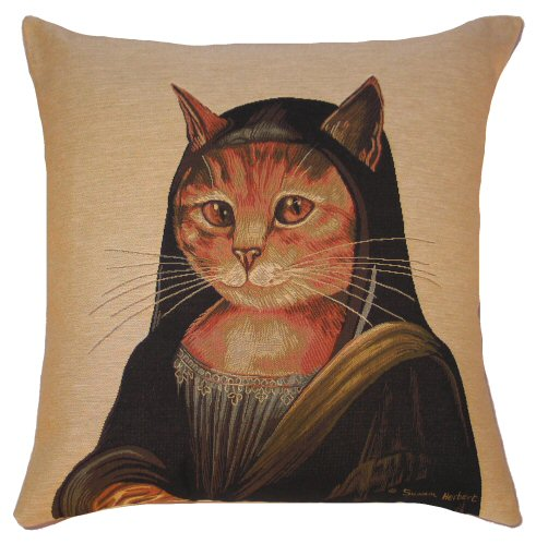 Cat D Artagnan Susan Herbert Belgian Tapestry Cushion A
