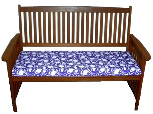 Three seater waterproof garden bench cushion tulip purple a bentley cushions - Made to measure bench seating ...