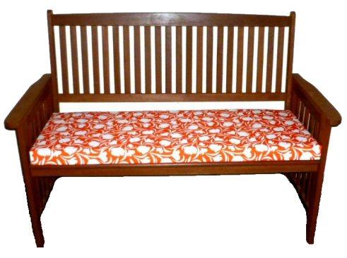 Exceptionnel Two Seater Waterproof Garden Bench Cushion Tulip Orange