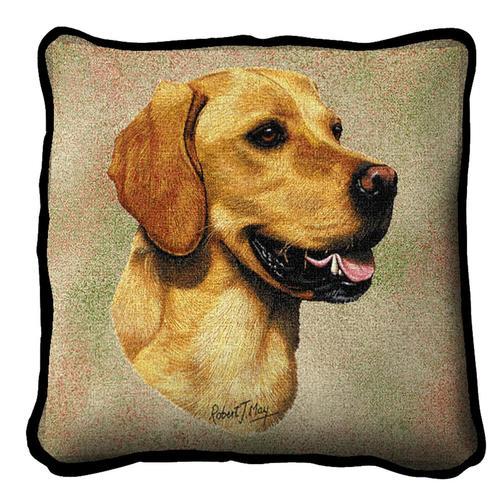 golden retriever belgian tapestry cushion